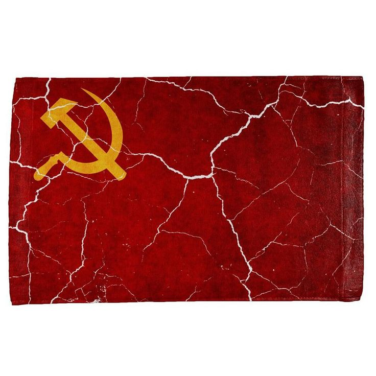 Distressed Soviet Union Flag All Over Hand Towel