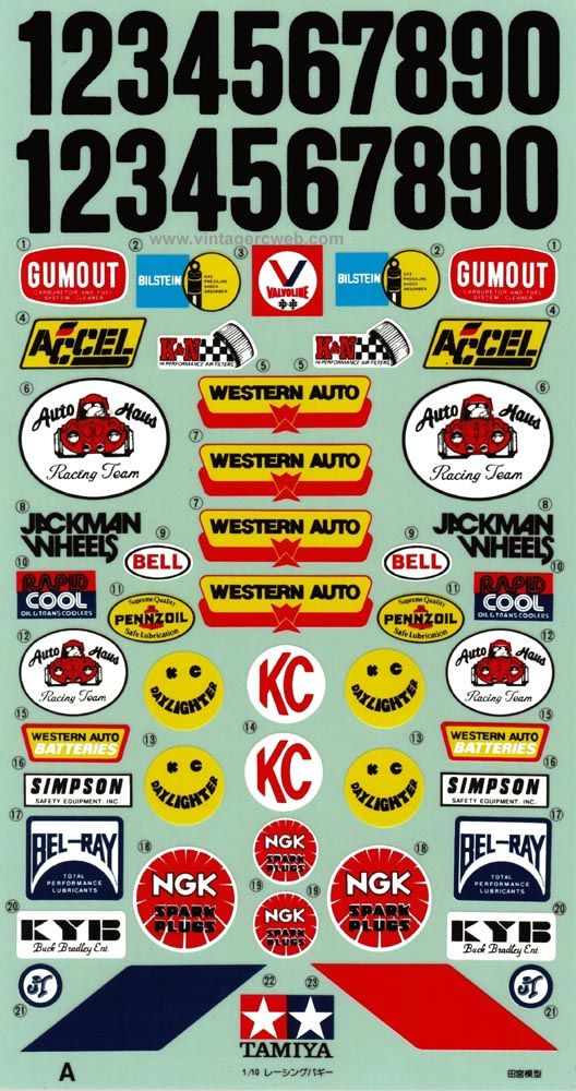 Tamiya decal database with scans and information
