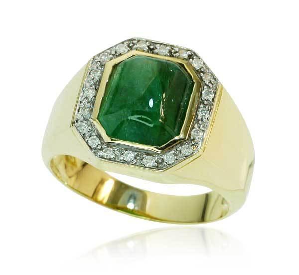 Smaragd Ring Diamant Schmuck