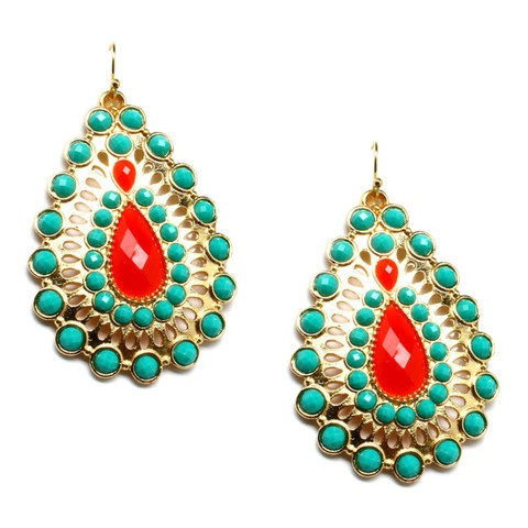 these earrings are a perfect pop of color!