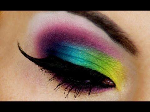 Яркий Летний Макияж Радуга / Bright Summer Makeup Look - YouTube