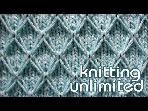 English Diamond Quilting Stitch | Knitting Unlimited