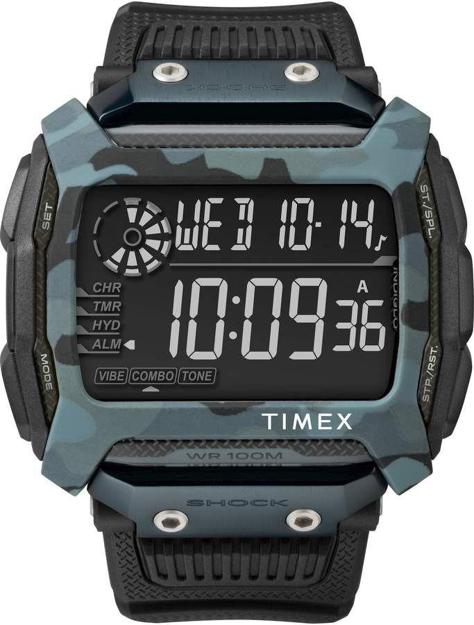 238f3da8394e Timex R Command(TM) Shock Digital Silicone Strap Watch