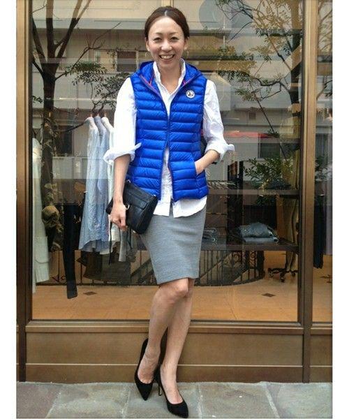 オフィスカジュアルにもなる♡春夏ファッションのダウンベストコーデを集めました!