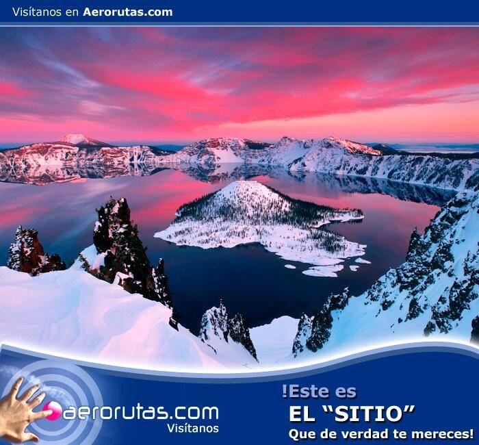 #Visita un lugar que te robará el aliento, #conoce el Lago del Cráter en #Oregon Estados Unidos. ¡Reserva Ahora! www.aerorutas.com #travel #tourism #travels #nature #photography