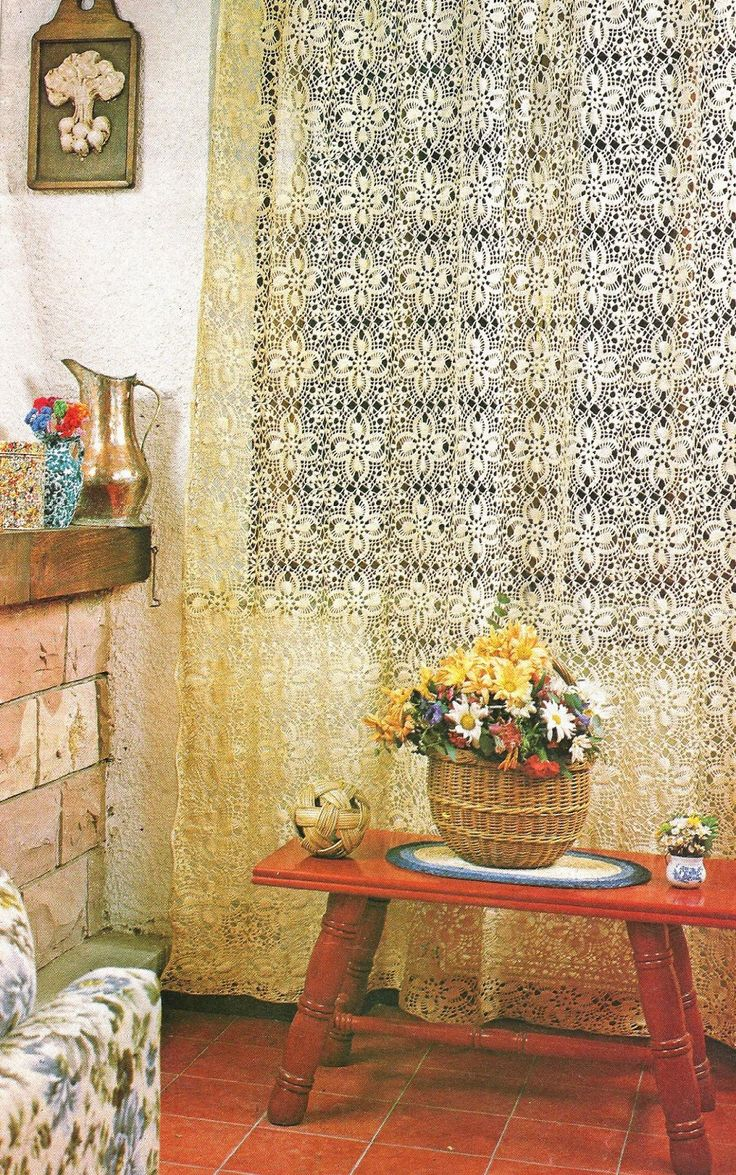 17 best images about cortinas on pinterest filet crochet for Cortinas artesanales