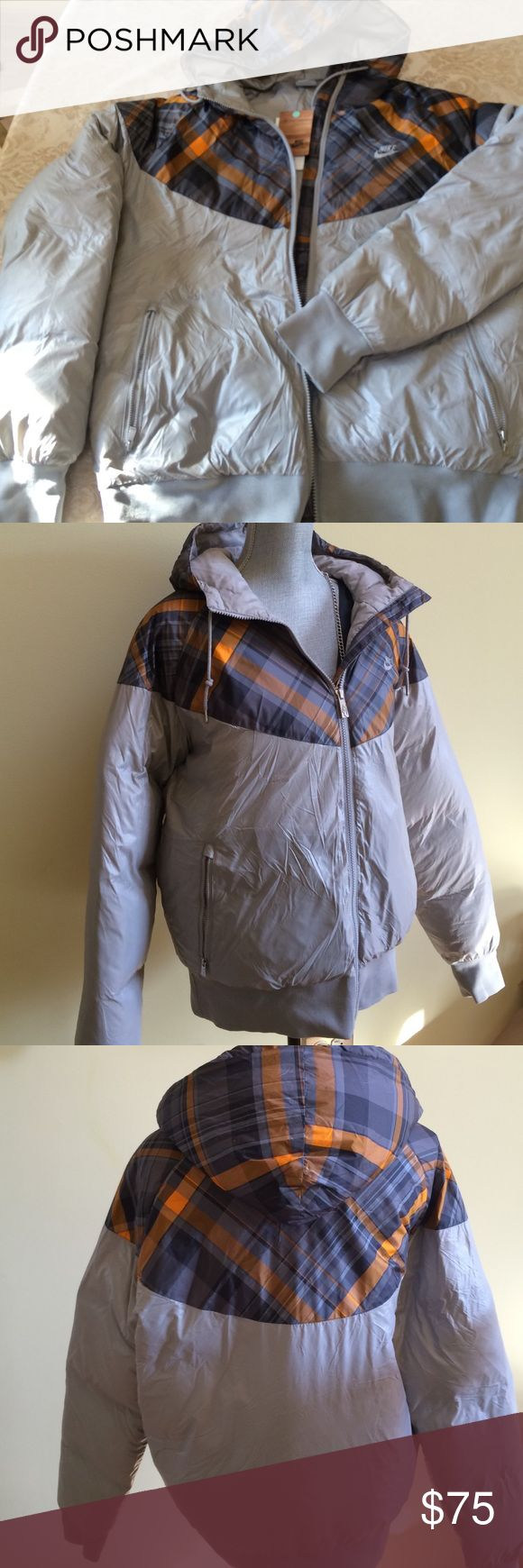 Nike winter jacket , Nike winter  jacket ,85% grey goose, 15% down feather , new ,, nice present for the new year, bundle to save for shipping Nke Jackets & Coats