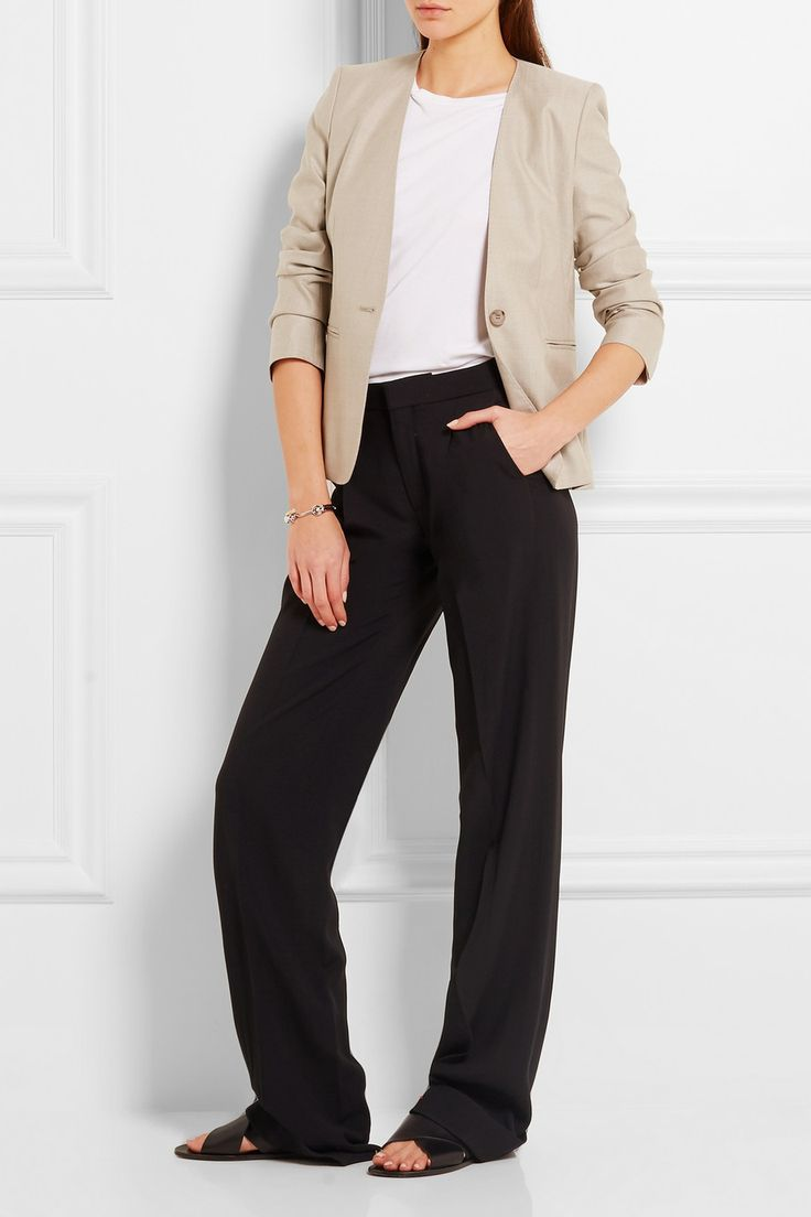 Max Mara | Colonia stretch wool and silk-blend jacket | NET-A-PORTER.COM