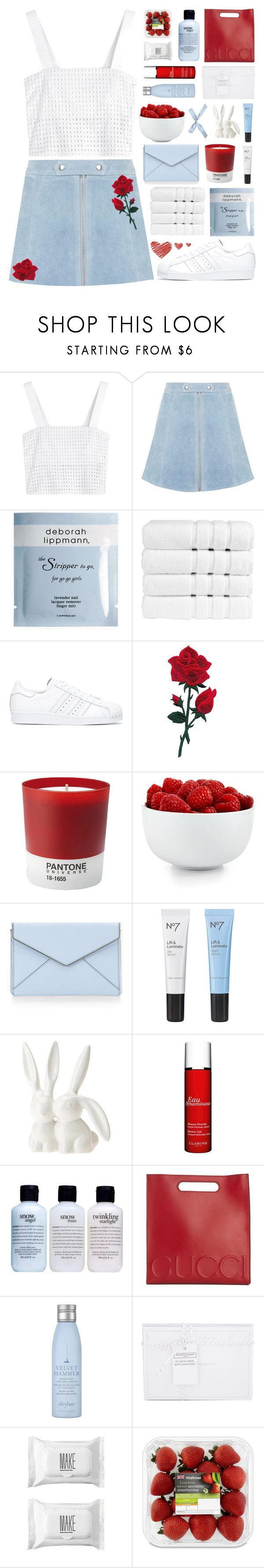 """no fancy covering, you get just what you see"" by enchantedmist ❤ liked on Polyvore featuring 3.1 Phillip Lim, Topshop, Deborah Lippmann, Christy, adidas, Pantone, The Cellar, Rebecca Minkoff, Boots No7 and Urban Outfitters"