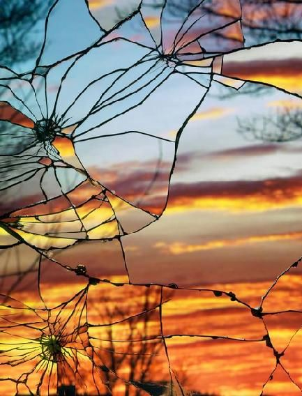 Have a broken mirror, as a symbol of was the world may see and then have a mirror that is beautiful and has portions of scriptures of what God sees when he looks at us.