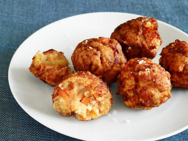 """Salmon Breakfast Croquettes: Food Network Magazine secured this recipe right from the White House; it's an old favorite of the Obamas from the girls' godmother and family friend """"Mama Kaye"""" Wilson"""