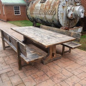 Rustic Outdoor Dining Room Table