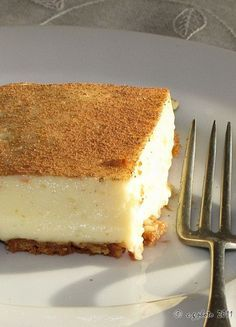 South African dessert - milk tart