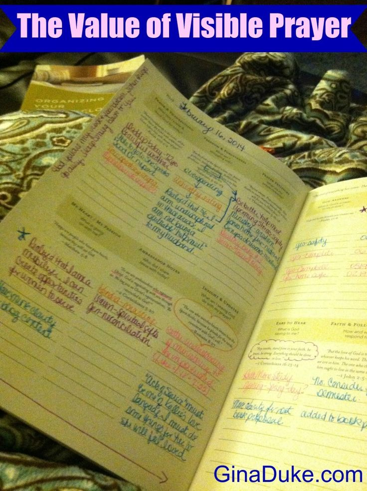 Visible Prayer | Structured Prayer Journaling | Organizing Your Prayer Closet | Prayer Closet Organizer | GinaDuke.com | Churchtown Ministries