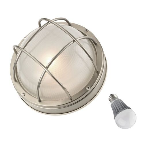 Design Classics Lighting Bulkhead Marine Light with LED Bulb - 10-Inches Wide | 39556 SS LED | Destination Lighting