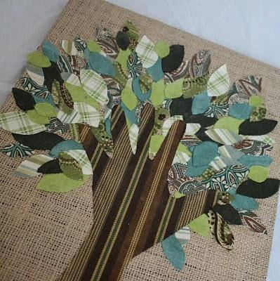 Tree canvas craft