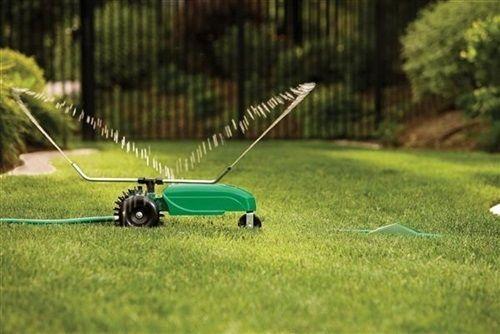 Walking Traveling Water Sprinkler Tractor Metal Garden Lawn Tool Spray Rain Yard #WalkingTravelingWaterSprinkler