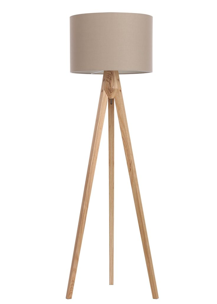 Travis Tripod Floor Lamp H152cm X W45cm Cream With