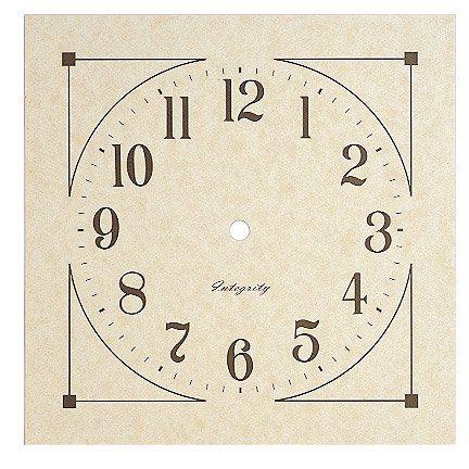 free Square Clock Face Templates Free