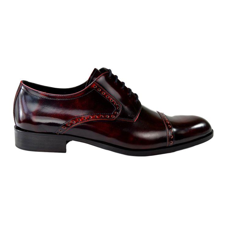 Pantofi din piele rosu