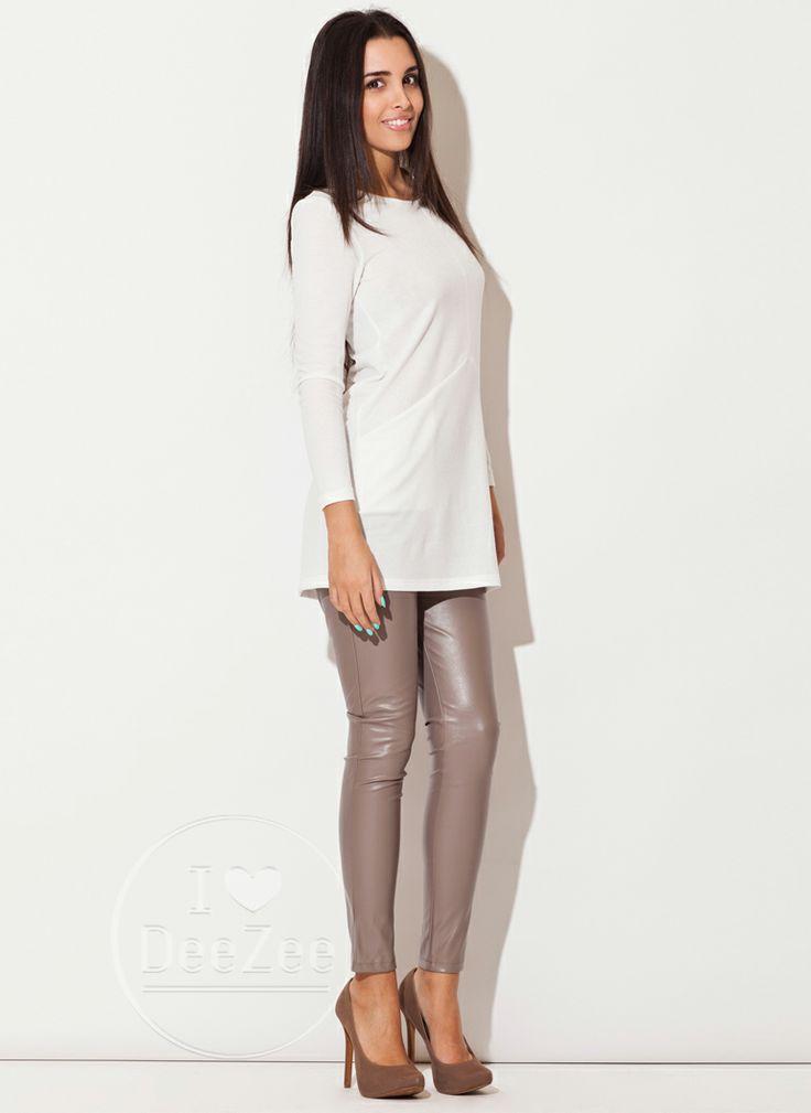 Sukienka Double Mirror Ecru / Sukienki / Ubrania - Modne buty, stylowe ubrania i obuwie damskie, sklep z butami i ubraniami, modne buty letn...