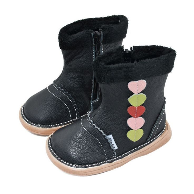 Mntrerm 2017 Kids Snow Boots High Quality Genuine Leather Cotton Shoes Hot Sale Retro Love Genuine Snow Boots For Children  #Affiliate