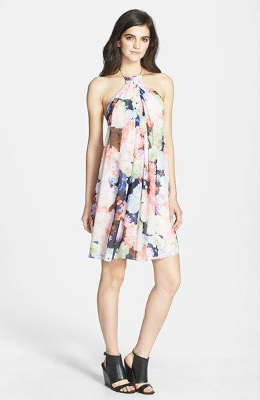 1.State Floral Print Halter Dress available at #Nordstrom