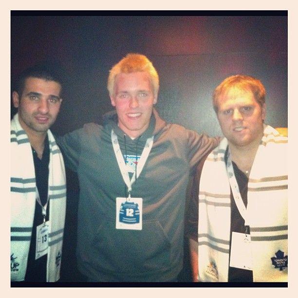 Nazem Kadri & Phil Kessel with a fan at the Players Gala