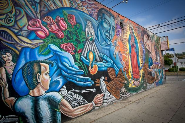 17 best images about la virgen maria on pinterest for Chicano mural art