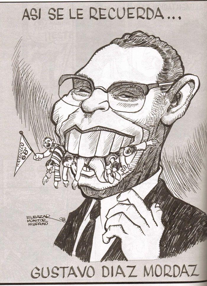 Resultado de imagen para la matanza de tlatelolco caricatura
