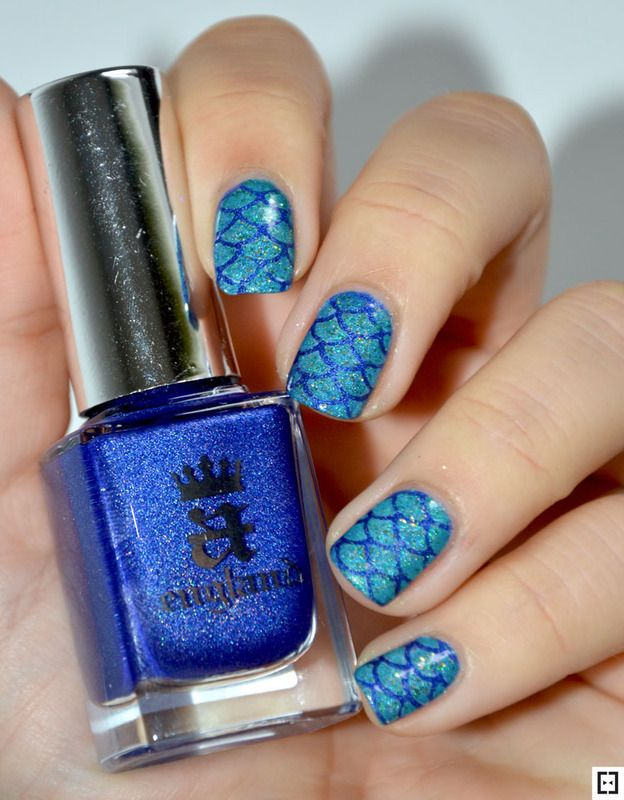 Nailpolis Museum of Nail Art   Mermaid nails  by Sweapee Nail Polish Used:  Colors By Llarowe Refresh...ing!  A England spirit of the moors  Enchanted Polish Hello New York  Colors By Llarrowe Mean Dean Proffitt