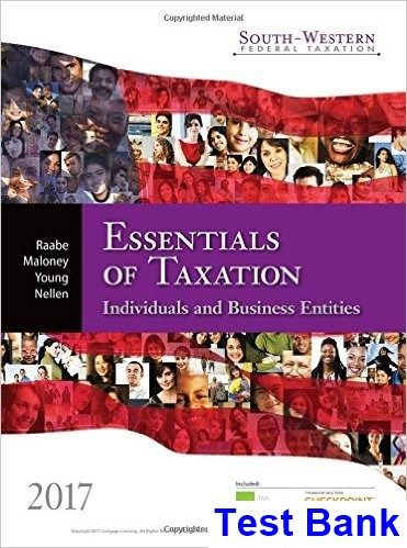 21 best solutions manual images on pinterest banks textbook and test bank for south western federal taxation 2017 essentials of taxation individuals and business entities fandeluxe Choice Image