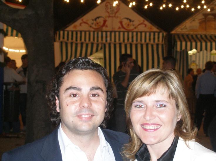 Could this be Juan Manuel and friend standing outside his caseta, Las Veinte Preguntas?