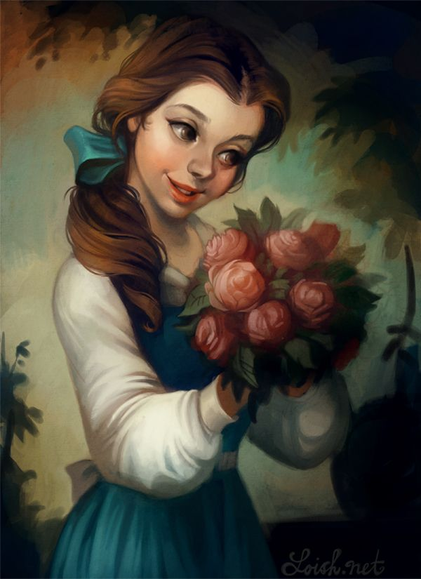 j'adore belle.  & wish i could paint this realistically.  or that my portrait would look like this.  : ) #disney #princess #belle