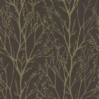 Bedroom wallpaper idea.. I love wallpaper shimmer metallic gold/brown