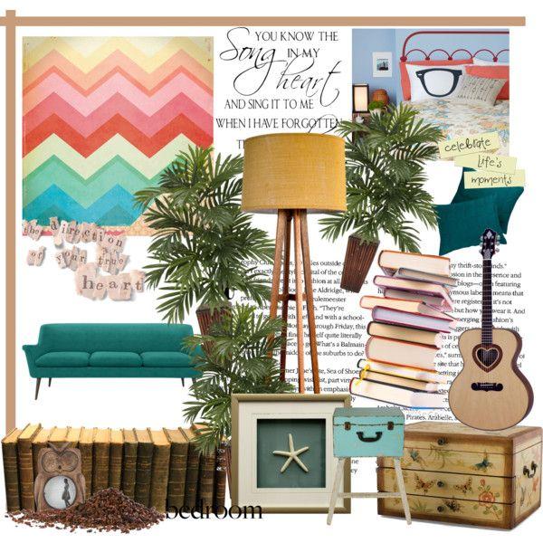 """pastel bedroom"" by rubygrosse on Polyvore"