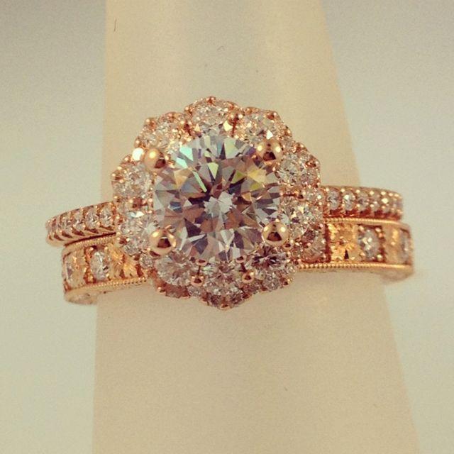 Rose Gold Artcarved engagement ring   #rosegold #weddinghour #engagement #wedding
