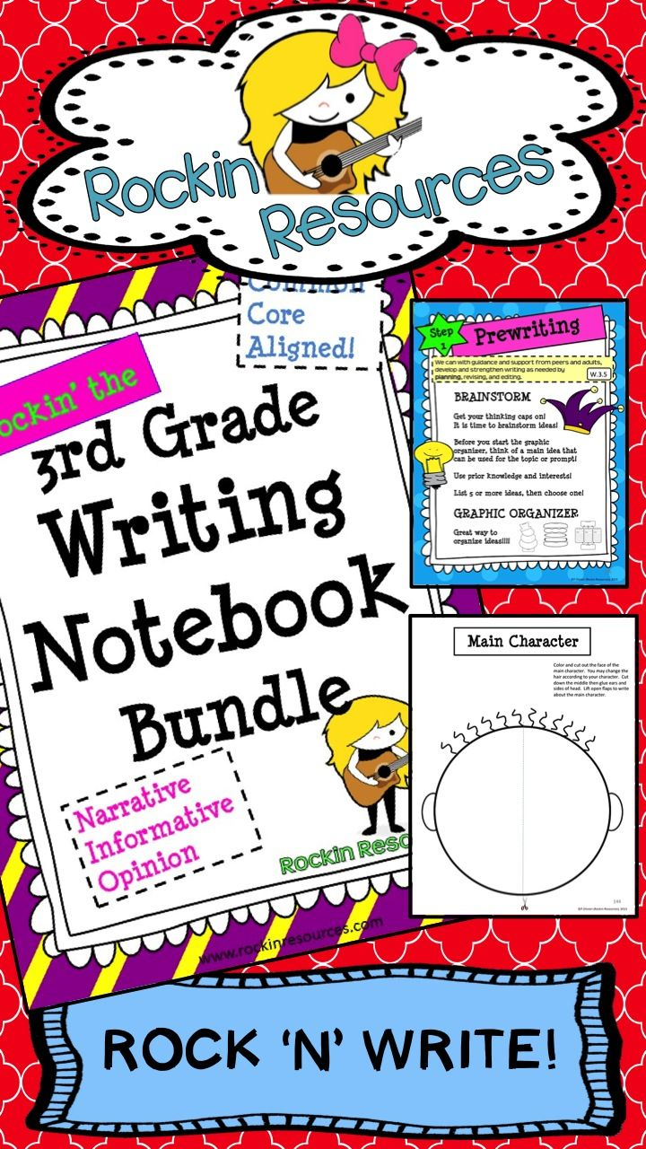 Rock your writing! This year-long unit (400+ pages with links) was designed to follow through the WRITING PROCESS and model lessons for Narrative, Opinion, and Informative Essay Writing. It covers ALL of the Writing Common Core Standards and many Language Standards. There are detailed lesson plans and teachable slides that can be used on the smart board. There are also student printables WITH STANDARDS to go along with each mini lesson. $