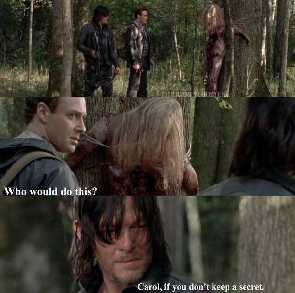The Walking Dead.Carol funny meme