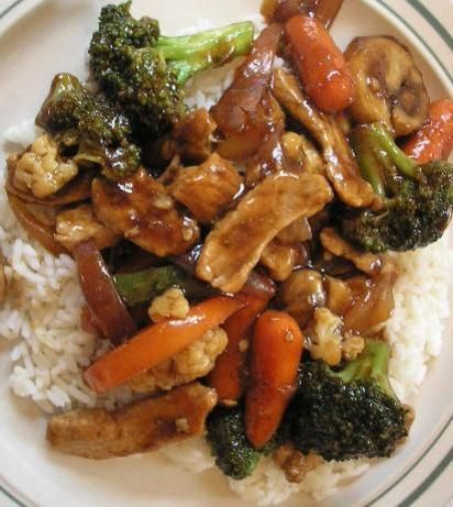 A number of years ago when our town used to hold a Farmers Market they were giving out samples of veggies stirfried in this sauce and passed out the recipe to those that requested it.  Very simple to make and tastes great in basically any type of stirfry...pork, chicken, shrimp or beef.