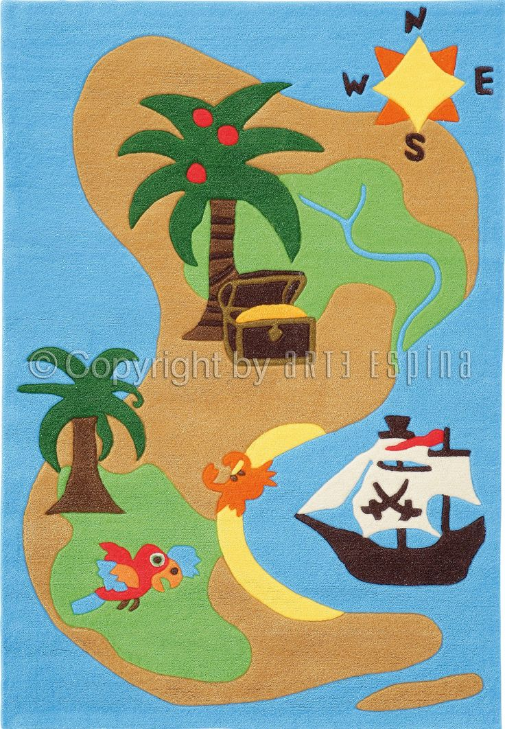 Jongens vinden het geweldig de belevenissen van piraten te ontdekken als ze op dit speelkleed spelen! (Natuurlijk is het ook een heel leuk speelkleed voor stoere meisjes!) Handgemaakt en hypo-allergeen   Arte Espina Kids Collectie