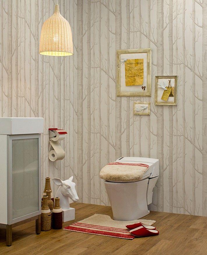 木立の中のトイレ 当店取り扱い商品を使ったトイレコーディネートです。 Http://www.rakuten.ne