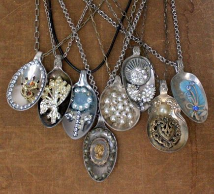 Necklaces Made From Old Spoons Pretties Spoon Jewelry