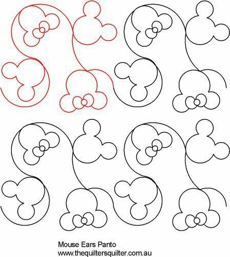 Mouse Ears Digital Pantograph Longarm Digital Designs