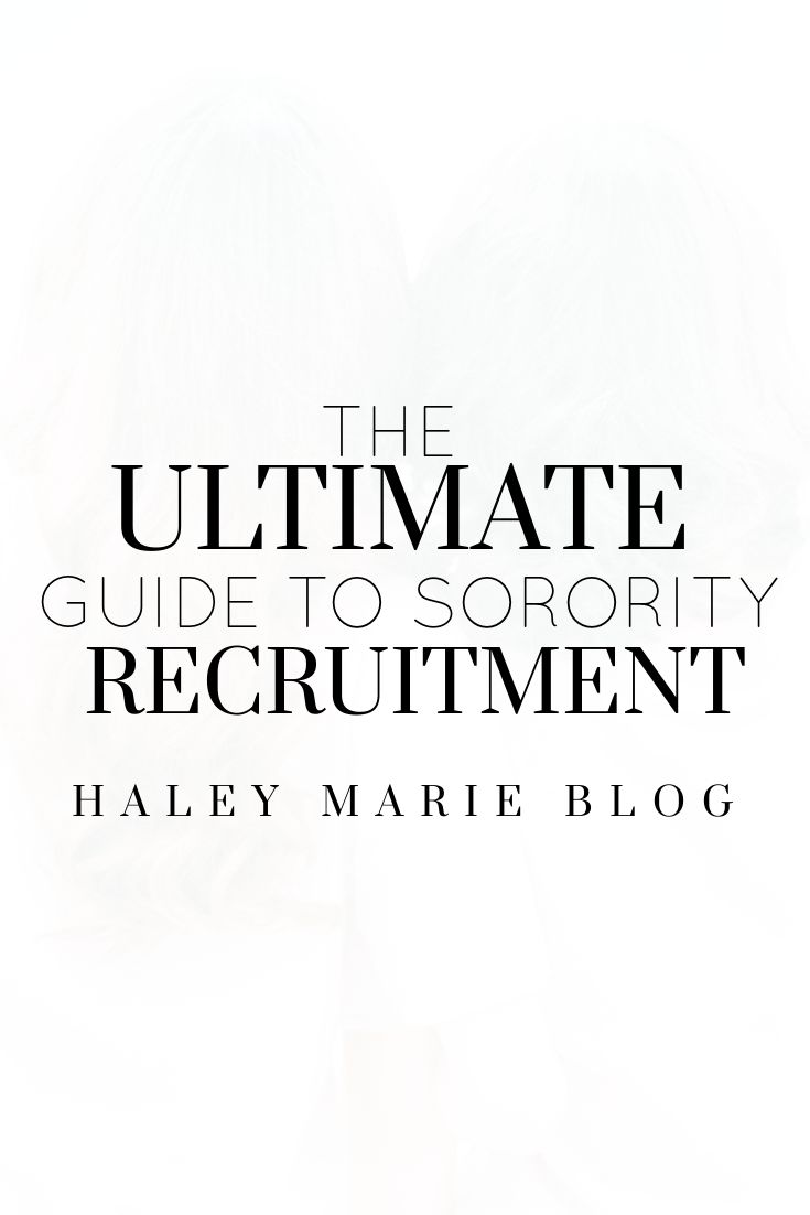 Sorority recruitment can be both a daunting and eye-epening experience. From what to wear to what to talk about, check out my best tips for navigating this life-changing process!