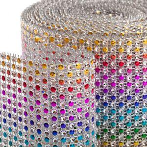 Rainbow Diamond Rhinestone Ribbon Wrap 4.5 x 36 Ribbons, Foil - BakeDeco.Com