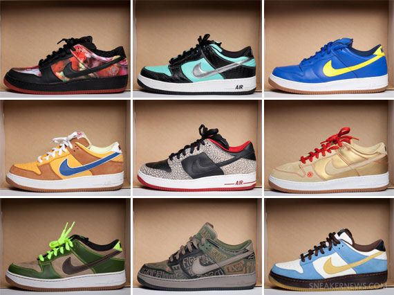 Sneaker News x Sneakerpedia Presents: DJ Clark Kents Nike SB Dunk Force 1  Collection
