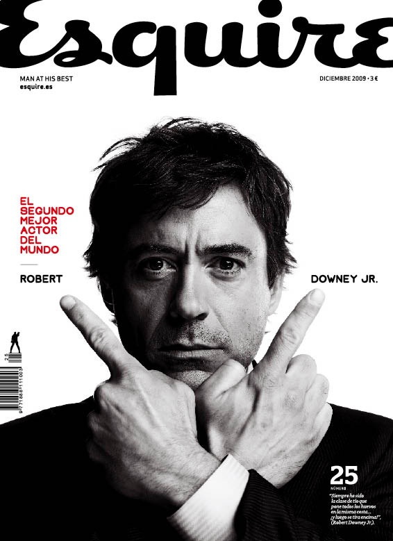 Robert Downey jr. on the cover of Esquire magazine