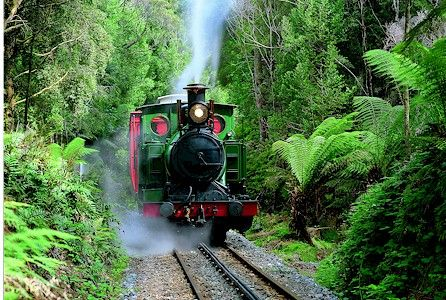 West Coast Wilderness Railway Strahan - Queenstown Tasmania