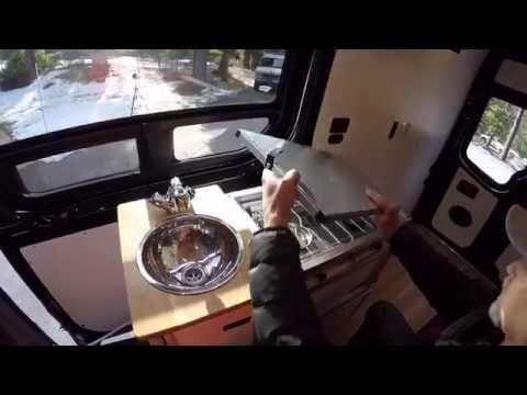 Plug-n-play indoor/outdoor TK kitchen instantly turns van